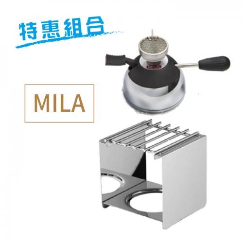 【特惠組合】MILA方型爐架+電子式陶瓷登山爐